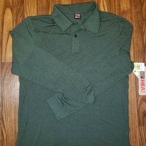 32 Degrees Heat Long Sleeve Tech Polo Shirt